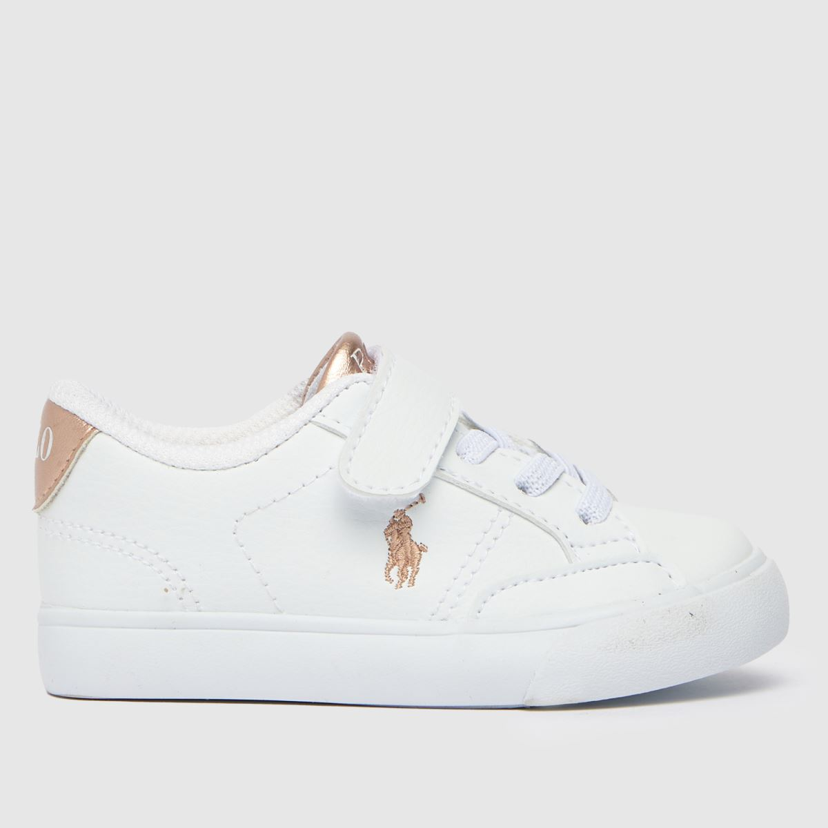 Polo Ralph Lauren White & Pink Theron Iv Ps Trainers Toddler