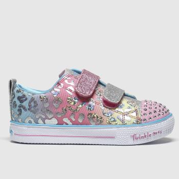 Skechers Pink Shuffle Lite Leopard c2namevalue::Girls Toddler