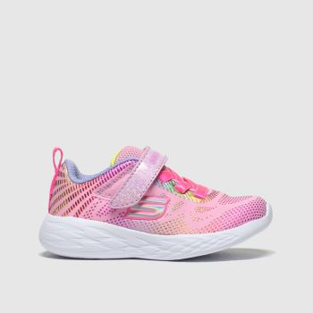 Skechers Pale Pink Go Run 600 Girls Toddler