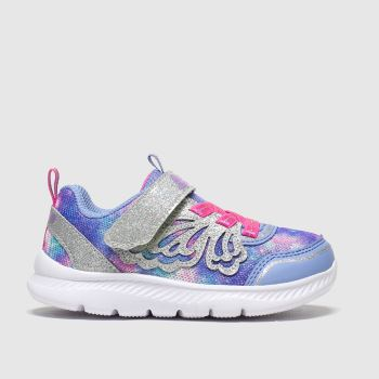 SKECHERS Purple Comfy Flex 2.0 Girls Toddler