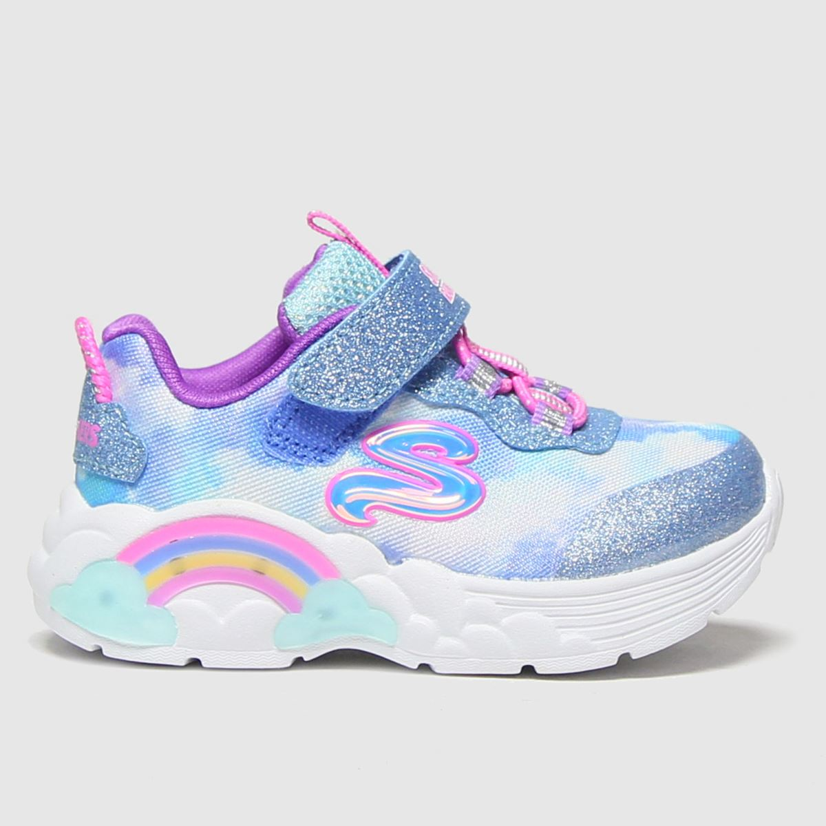 SKECHERS Pale Blue Rainbow Lacer Trainers Toddler