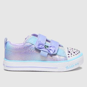SKECHERS Purple Shuffle Sweet Girls Toddler