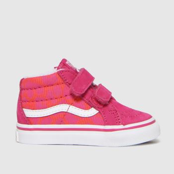 Vans Pink Sk8-mid Reissue V Girls Toddler