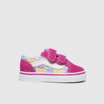 Vans Pink Old Skool V Girls Toddler#