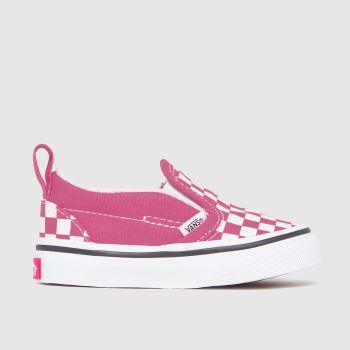 Vans Pink Classic Slip-on V Girls Toddler