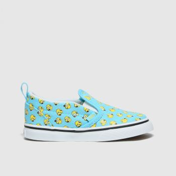 Vans Pale Blue Slip-on The Simpsons Tdlr Girls Toddler#