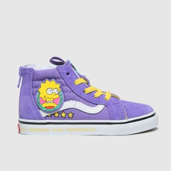 Vans Lilac Sk8-hi Zip The Simpsons Girls Toddler