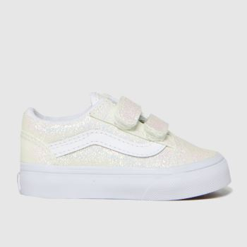 Vans Pale Pink Old Skool V Uv Glitter Girls Toddler