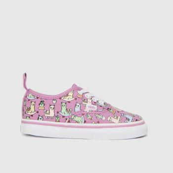 Vans Pink Authentic Llamas Girls Toddler