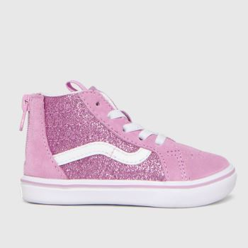 Vans Pink Comfycush Sk8-hi Zip Girls Toddler