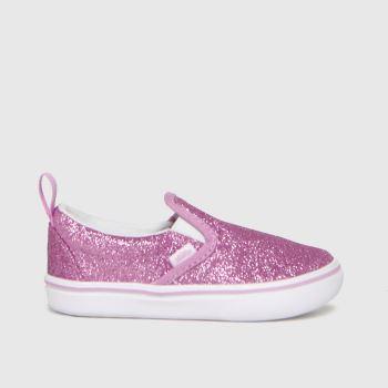 Vans Pink Comfycush Slip-on V Glitter Girls Toddler