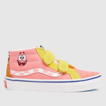 Vans Pink Spongebob Sk8-mid Girls Toddler