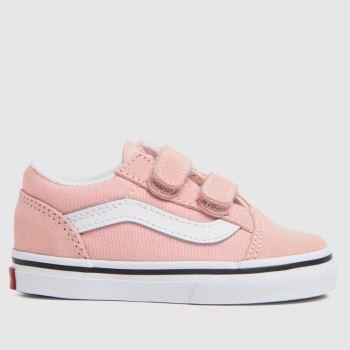 Vans Pale Pink Old Skool V Girls Toddler