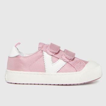 victoria Pale Pink Huellas Trainer 2v Girls Toddler