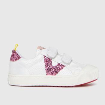 victoria white & pink huellas trainer 2v trainers toddler