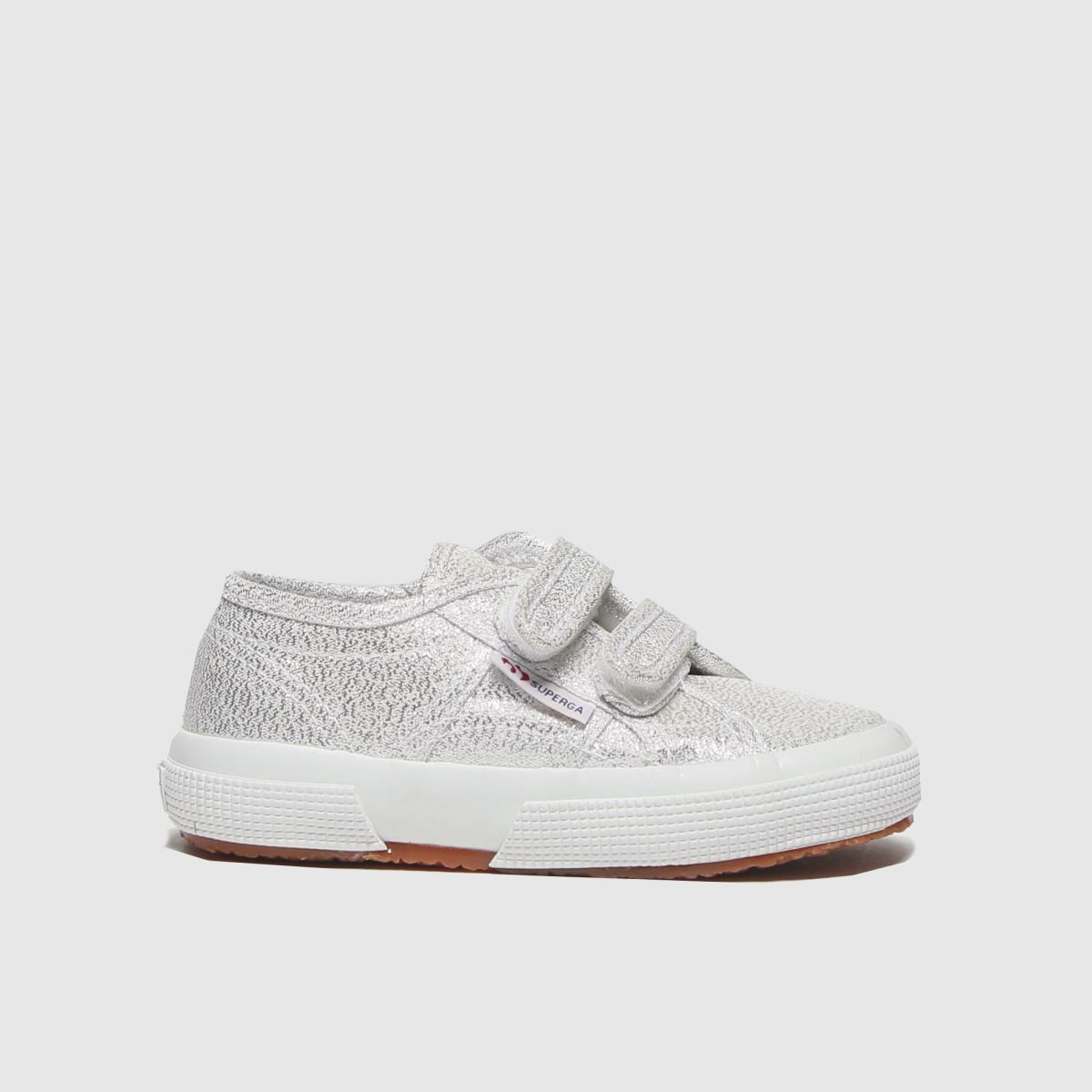 Superga Silver 2750 Lame 2v Trainers Toddler