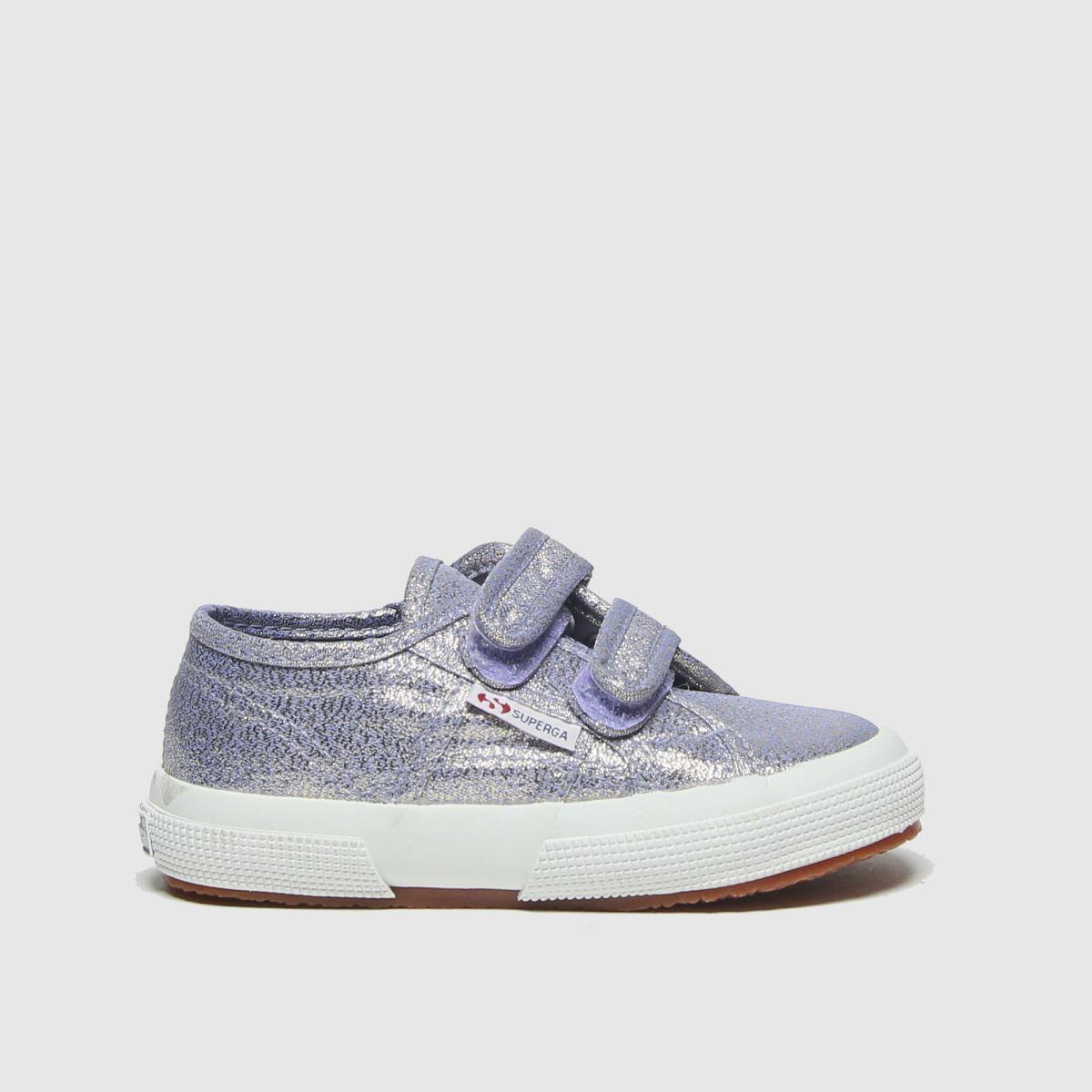 Superga Purple 2750 Lame 2v Trainers Toddler