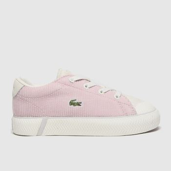 Lacoste White & Pink Gripshot Girls Toddler