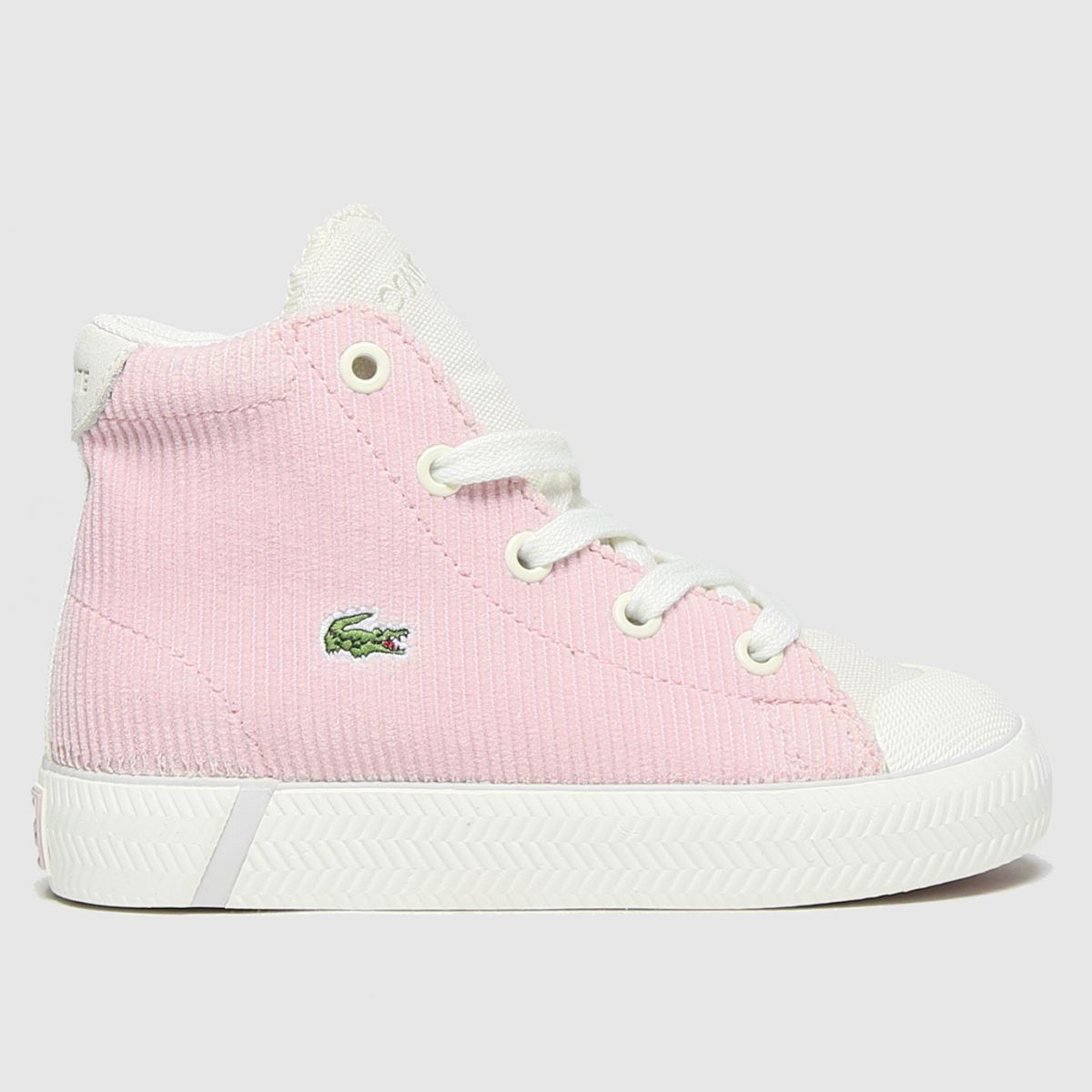 Lacoste White & Pink Gripshot Mid Trainers Toddler
