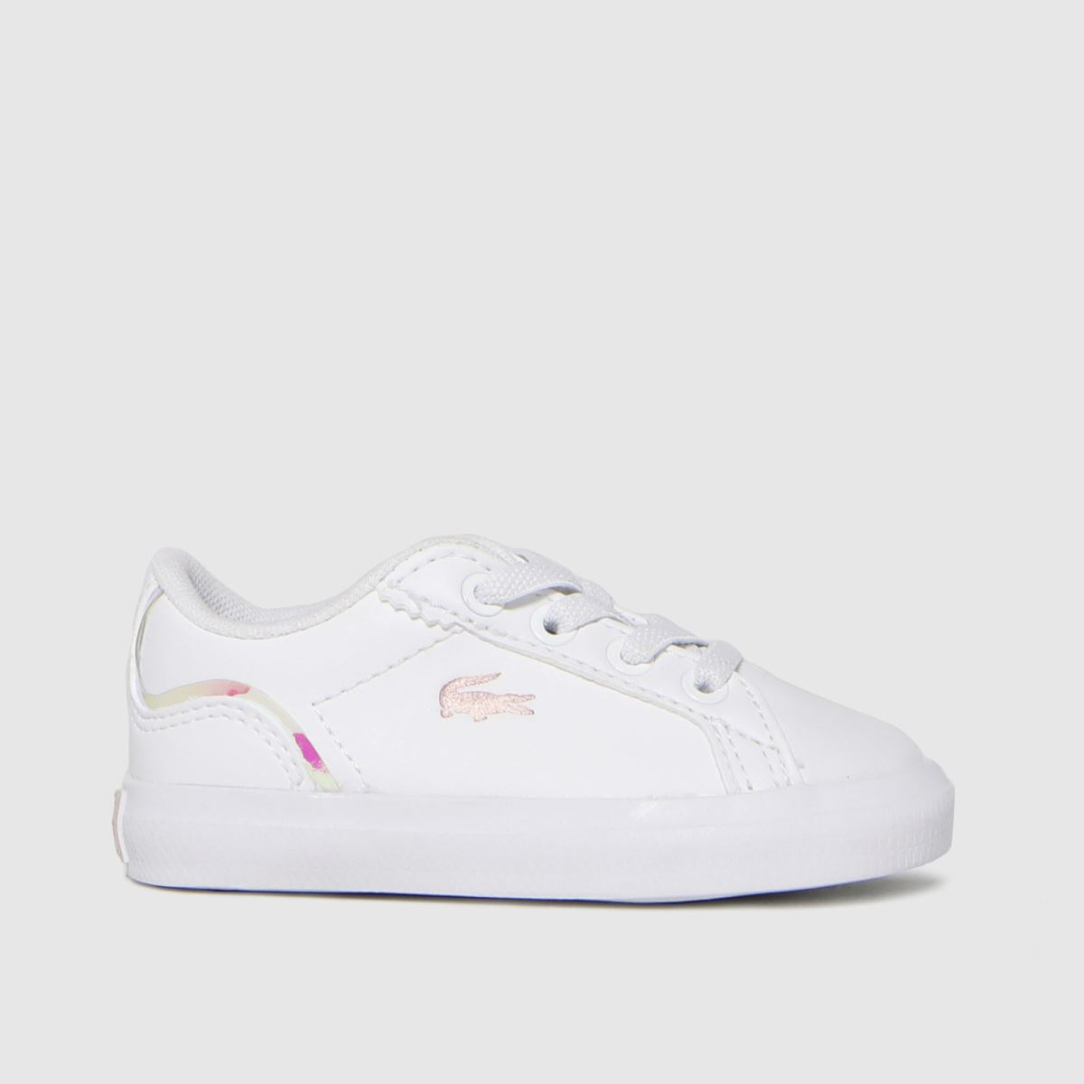 Lacoste White & Pink Lerond Trainers Toddler