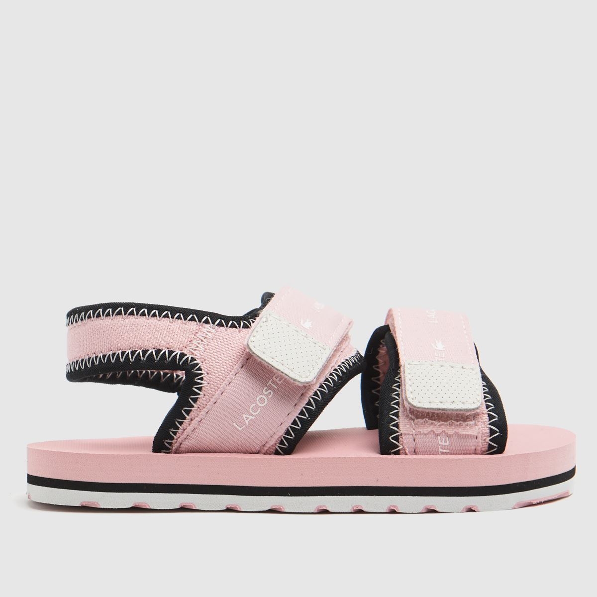 Lacoste Pale Pink Sol Trainers Toddler