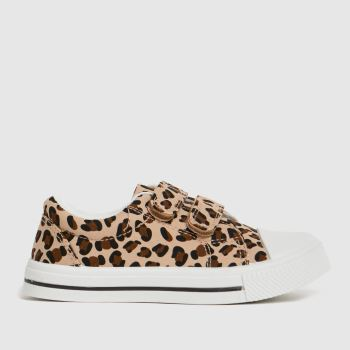 schuh Tan Maxi Leopard 2v Girls Toddler