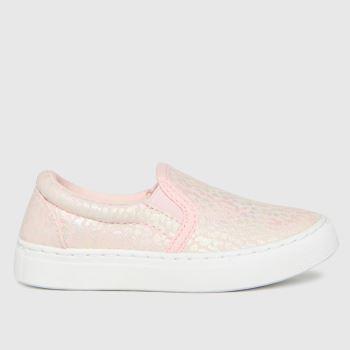 schuh Pale Pink Misty Leopard Slip On Girls Toddler