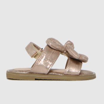 schuh Bronze Treasure Bow Sandal Girls Toddler