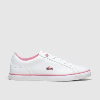 Lacoste White Lerond Girls Junior