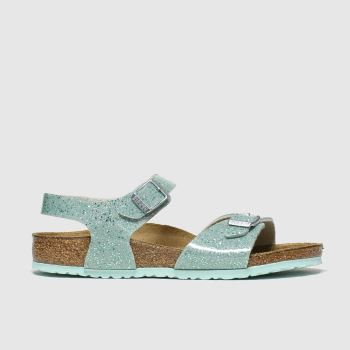 Birkenstock Light Green Rio Plain Girls Junior