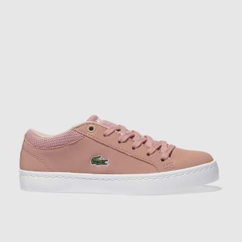 Lacoste Pink STRAIGHTSET Girls Junior