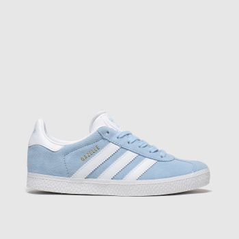 Adidas Pale Blue Gazelle Girls Junior