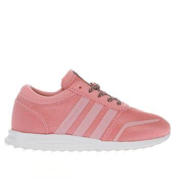 Las niñas rosa pálido adidas los angeles niñas Junior Schuh