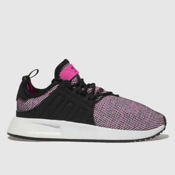 ADIDAS BLACK & PINK ADI X_PLR TRAINERS JUNIOR