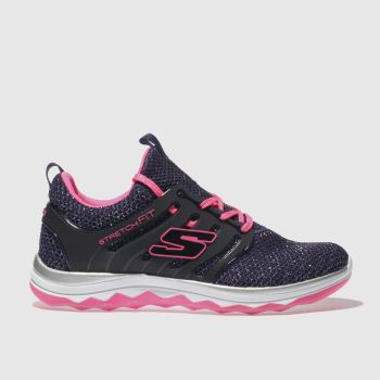 Skechers Navy Diamond Runner Girls Junior
