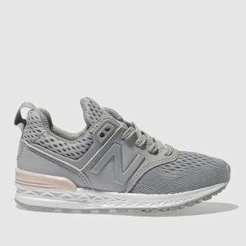 New Balance Grey 574 Sport Girls Junior