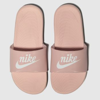 nike pale pink kawa slide sandals junior
