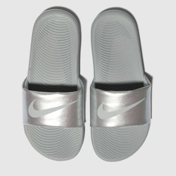 Nike Silver Kawa Slide Girls Junior