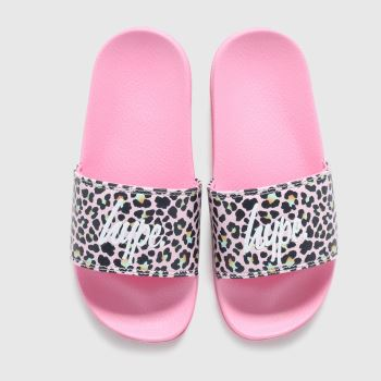 Hype Pink & Black Disco Leopard Girls Junior