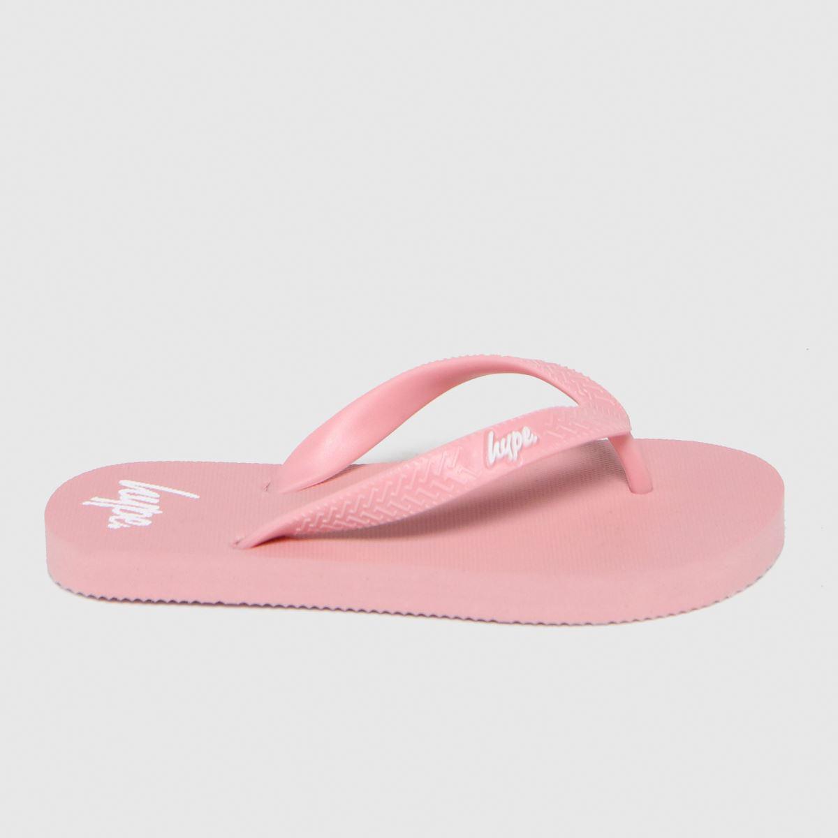 Hype Pale Pink Flip Flops Sliders Junior
