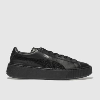 Puma Black BASKET PLATFORM BLING Girls Junior