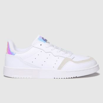 adidas White & Silver Supercourt Girls Junior
