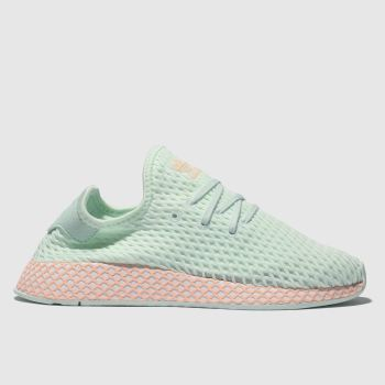 7299f6e066543 Adidas Light Green Deerupt Runner Girls Junior
