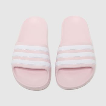 adidas Pale Pink Adilette Aqua Girls Junior