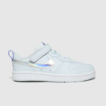 Nike Pale Blue Court Borough Low 2 Fp Girls Junior#