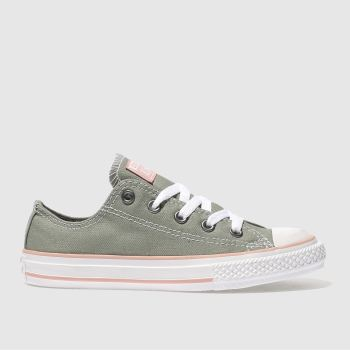 CONVERSE KHAKI CHUCK TAYLOR ALL STAR LO TRAINERS JUNIOR
