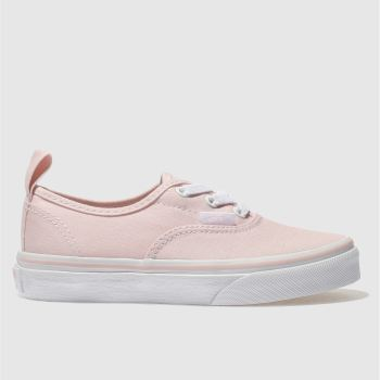 VANS PALE PINK AUTHENTIC TRAINERS JUNIOR