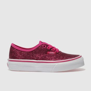 Vans Pink AUTHENTIC GLITTER Girls Junior