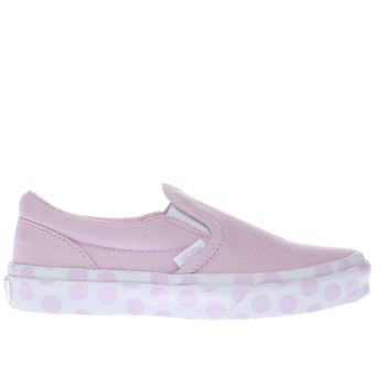 VANS PALE PINK CLASSIC SLIP-ON GIRLS JUNIOR TRAINERS