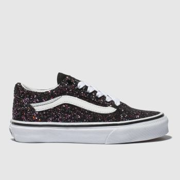 Vans Black & Purple Old Skool Girls Junior